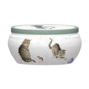 Royal Worcester Wrendale Cat & Mouse Boutique Candle Tin